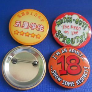 Custom Tin Button Badge for Promotion (GZHY-TB-001) pictures & photos