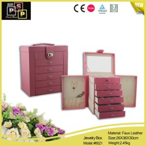 Retro Style and Fashional Faux Leather Jewelry Box (3213) pictures & photos