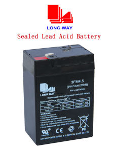 6V4.5ah Rechargeable Lead-Acid Battery pictures & photos