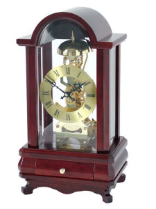 Skeleton Clock:Solid Wood (0301X)