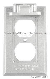 Duplex Receptacle Vertical One Gang Weatherproof Box Cover (WP10201)