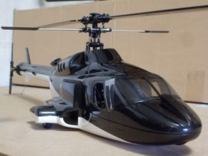 Airwolf 450 Black Fiber Glass Fuselage
