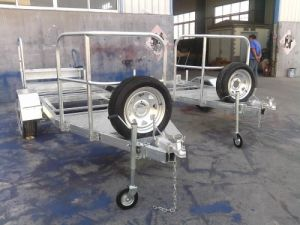 Hot Dipped Galvanized Portable Toilet Trailers with Spare Wheels pictures & photos