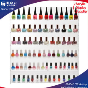 6 Shelf PRO Clear Acrylic Nail Polish Rack / Salon Wall Mounted Organizer Display pictures & photos