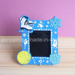 Custom Soft PVC Hot Sell Cheap Snow Flower Photo Frame pictures & photos