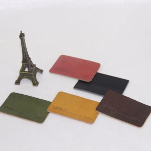 PU Leather Labels, Genuine Leather Labels and Synthetic Leather Labels in Print, Hot Press and Embroider pictures & photos