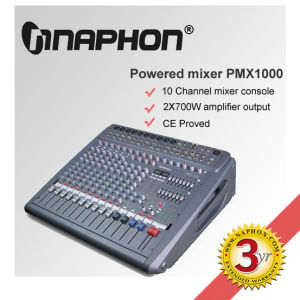10 Channel & 2x700W Professional Powered Mixer Console (PMX1000)