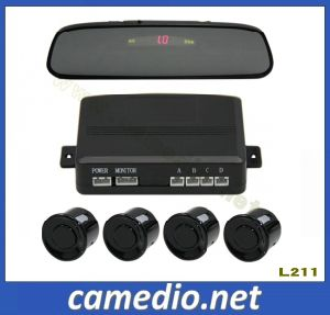 Car Rear View Mirror Parking Sensor with LED/LCD Display Optional pictures & photos
