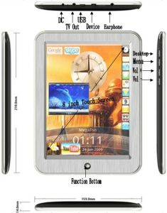 8inch Andriod 2.1mid Touchscreen Tablet PC 2g Marvel 166 (MID-803)