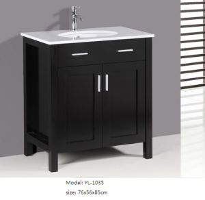 Bathroom Furniture with Ceramic Basin Sanitary Ware Cabinet pictures & photos