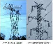 Power Plant / Angle Steel Tower / Transmission Tower / Mild Steel / Galvanized Steel (STC-T026)