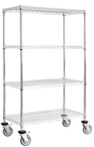 4 Layers Mobile Wire Shelving for Warehouse and Garage pictures & photos