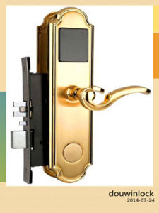 Hotel and Garden Card Reader Door Lock with Remote Control pictures & photos