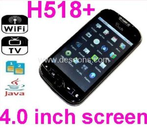 H518+ TV WiFi Mobile Phone With 4.0 Inch Touch Screen