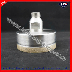 Glass Diamond Drill Bit, Sintered +Thread Shank +75mm Length pictures & photos