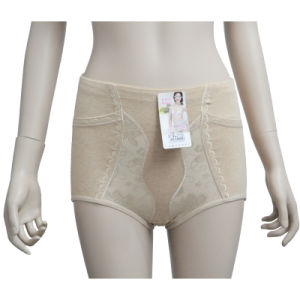 Women′s High Waisted Colored Cotton Slimming Underwear Pants (JM-2005)