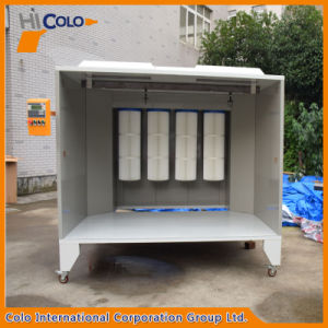 Hot Sales Manual Stainless Steel Powder Coating Booth for Paint System pictures & photos