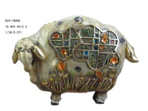 Polyresin Sheep Figurine Decoration (D24-78008)