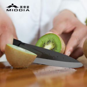 "4.5"" Mirror Black Ceramic Utility Knife Fruit Vegetable Knife pictures & photos"