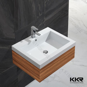 Modern Solid Surface Basin Sink with Cabinet (060701) pictures & photos