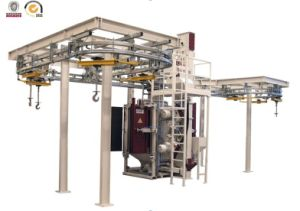 Continuous Working Overhead Monorail Shot Blasting Machines with BV ISO and SGS pictures & photos