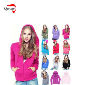 Custom Blank Lady Fleece Hoodie and Sweater (ZJ-7903) pictures & photos