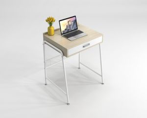 Modern Furniture Computer Table with Drawer for Student pictures & photos
