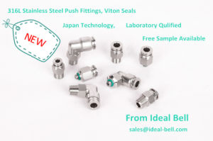 316L Stainless Steel Push Connector--Male Tee (SSPT10-01) pictures & photos