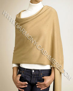 100% Cashmere Knitted Shawl (HM-SC09006) pictures & photos