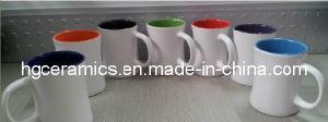 Inside Color Outside White Color Mug, 380ml Ceramic Mug pictures & photos