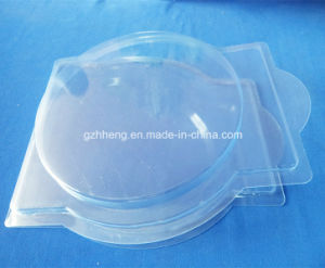 Cheap Clear blister packaging clamshell box with hard paper (PVC box) pictures & photos