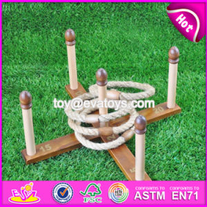 Top Fashion Outdoor Ring Toss Wooden Quoits Game W01A207 pictures & photos