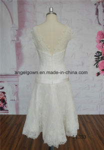 Latest A-Line Short Wedding Gown pictures & photos