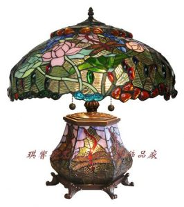 Water Lily Custer Lamp