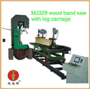 Woodworking Machinery Vertical Band Saw with Carriage (MJ329) pictures & photos