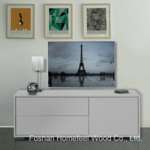 High UV Glossy White Living Room Furniture TV Cabinet (TVS30) pictures & photos