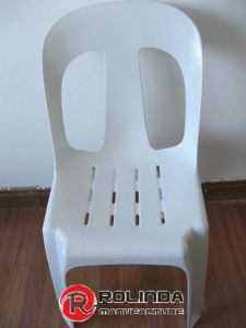 White Plastic Chair Without Arm
