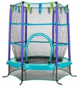 Green Mini Indoor Trampoline with Safety Net pictures & photos