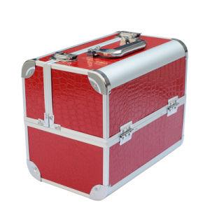 Red Cosmetic Case Aluminum Cosmetic Case Aluminum Makeup Case Professional Makeup Case pictures & photos