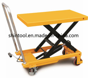Chinese Manual Mini Single Scissor Lift Table SPA150 pictures & photos