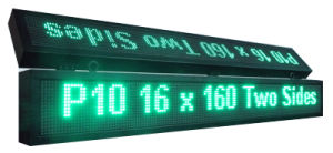 P10 Double Face Double Line Green Outdoor LED Message Sign pictures & photos