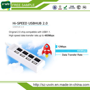 Hi-Speed USB 2.0 4-Port Lighted Hub pictures & photos