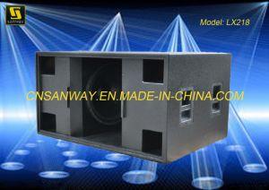 LX-218 Dual 18′′ Line Array Subwoofer Speaker Cabinet pictures & photos