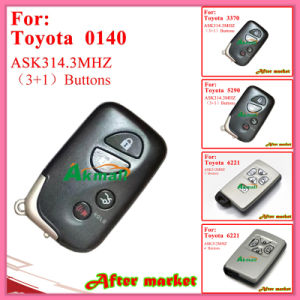 Smart Remote Key for Toyota with 4 Buttons Fsk312MHz 6221 ID71 Wd01 Alphapreviasienna 2005 2008 Silver pictures & photos