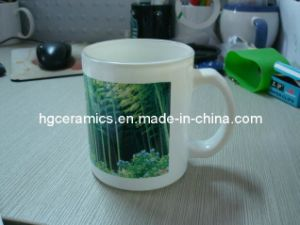 11oz Sublimation White Glass Mug pictures & photos