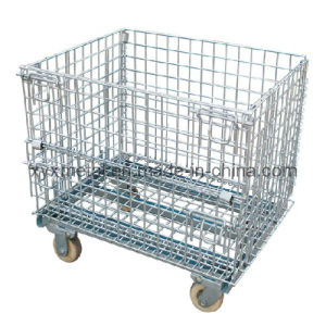 Metal Garage Logistics Rolling Tools Steel Storage Wire Mesh Cage pictures & photos