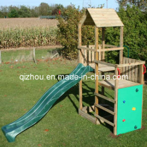 Outdoor Wooden Climbing Frame (QZF1009)