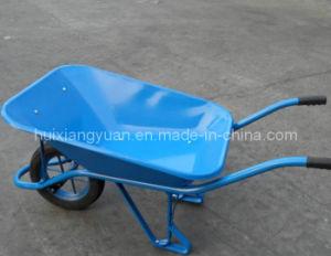 Blue Wheelbarrow with Steel Metal Tray (WB5302)