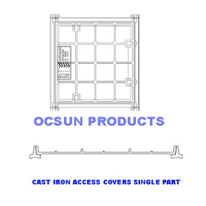 Manhole Cover Access Covers Concrete Infill Single Class B pictures & photos
