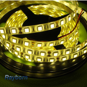 5050SMD LED Tape Strip Light 24 Volt Flexible LED Strip with Warm White, Cool White pictures & photos